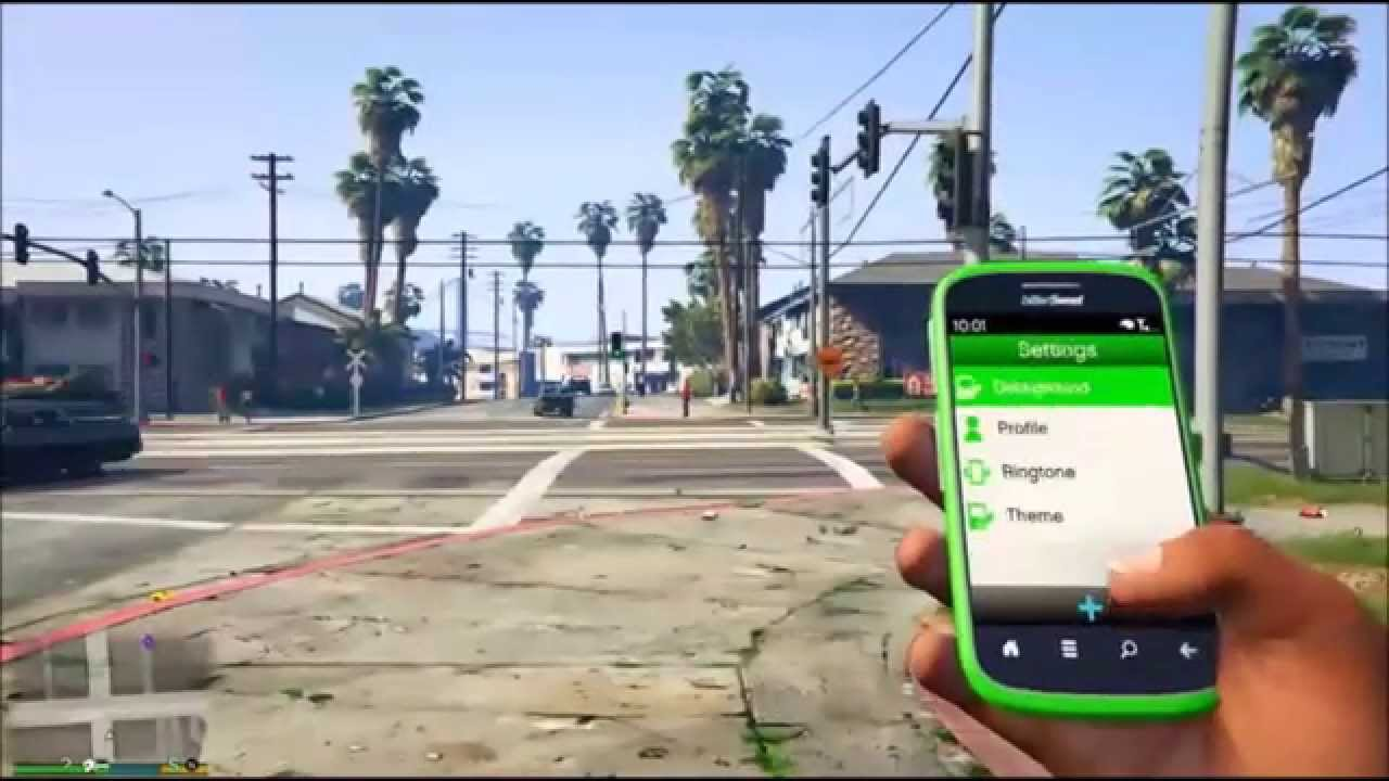 GTA 5 - Phone in First Person, Loading Screen & Settings [Next Gen GTA ...