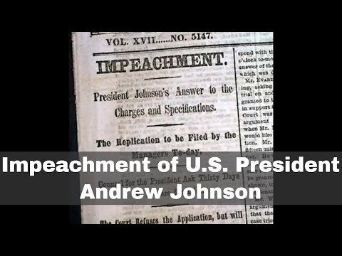 24th February 1868: US President Andrew Johnson impeached