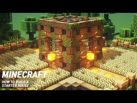 EASY Minecraft : STARTER HOUSE Tutorial |How to Build in Minecraft (#56)
