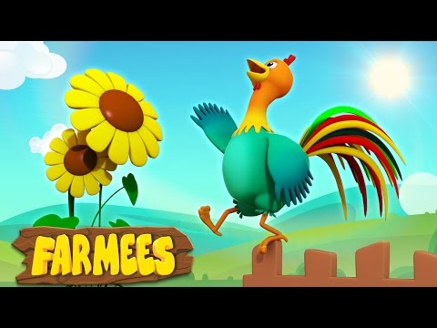 Cock A Doodle Do | Nursery Rhymes Songs | 3D | Song For Children's by Farmees S02E17