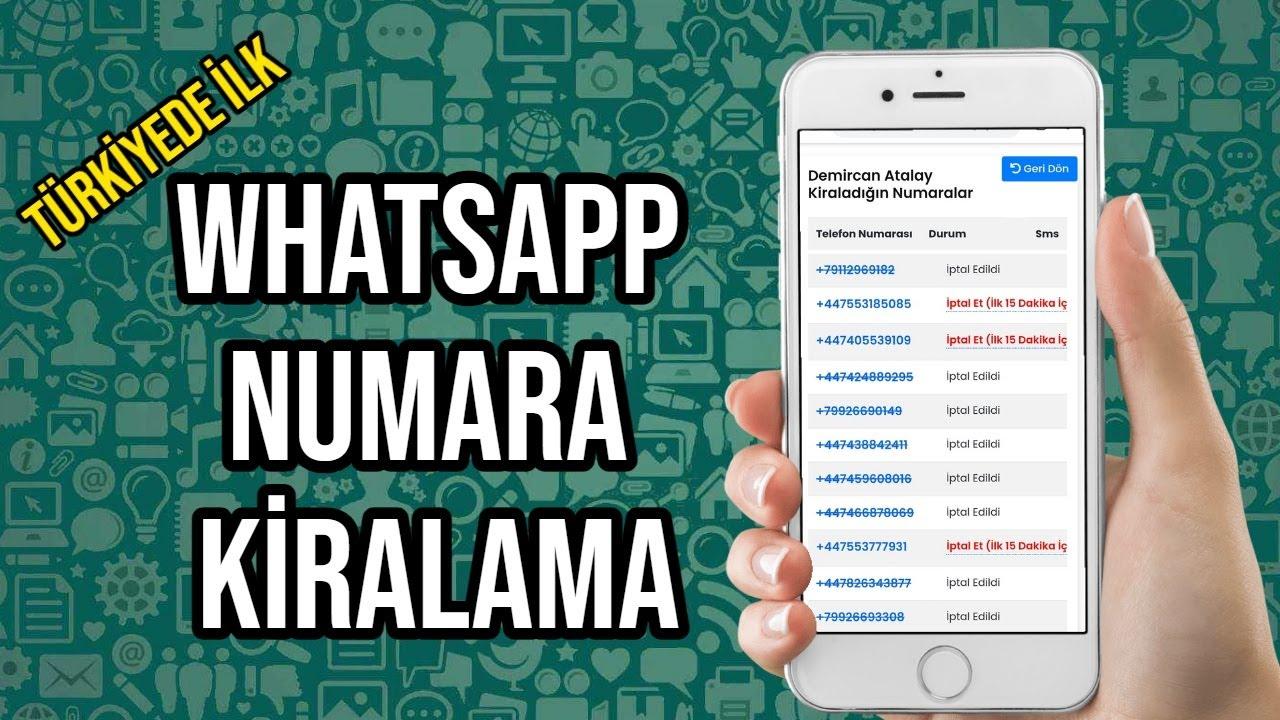 Whatsapp Sahte Numara Kiralama 2021 [YOUTUBE'DA İLK]