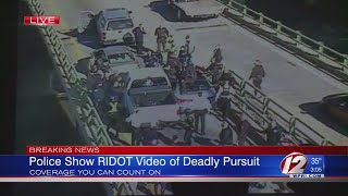 RIDOT footage shows truck driving erratically, hitting cars