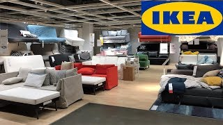 Ikea Sleeper Sofas Futons Furniture Home Decor   Shop With Me Shopping Store Walk Through 4k
