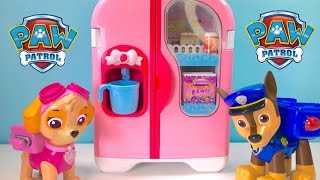 Paw Patrol Play with Refrigerator Food Cooking