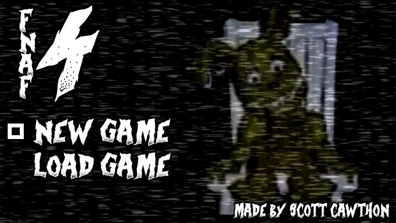 Fnaf 4 gameplay demo 4 menu teaser trailer fan made youtube