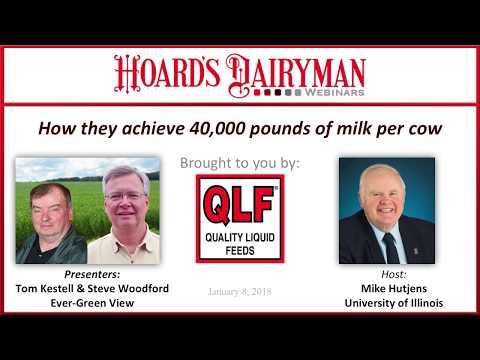 How they achieve 40,000 pounds of milk per cow