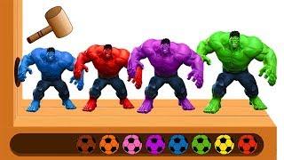 Farben Lernen für Kleinkinder Deutsch mit HULK Superhelden Kinder Videos für Kinder Fußball