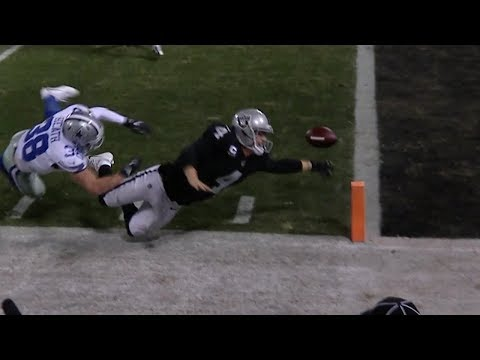 Derek Carr Fumbles For A Touchback To Lose The Game | Cowboys vs. Raiders | NFL