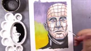 Episode 9 - Drawing Pinhead from Hellraiser