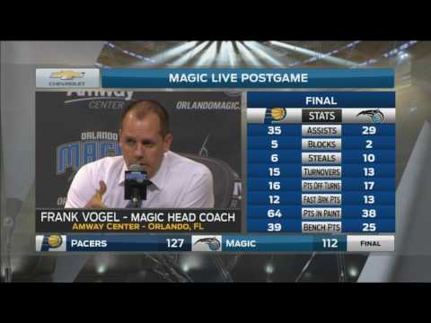 Frank Vogel - Magic vs. Pacers postgame 4/8/17