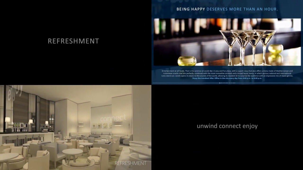JANUS Displays - Hilton Hotels Digital Signage Video Wall Example