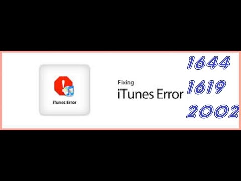 How To Fix iTunes Error 1644,1619, 2002, iPod/iPhone/iPad, Feb 2015