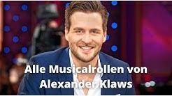 Alle Musicalrollen von Alexander Klaws