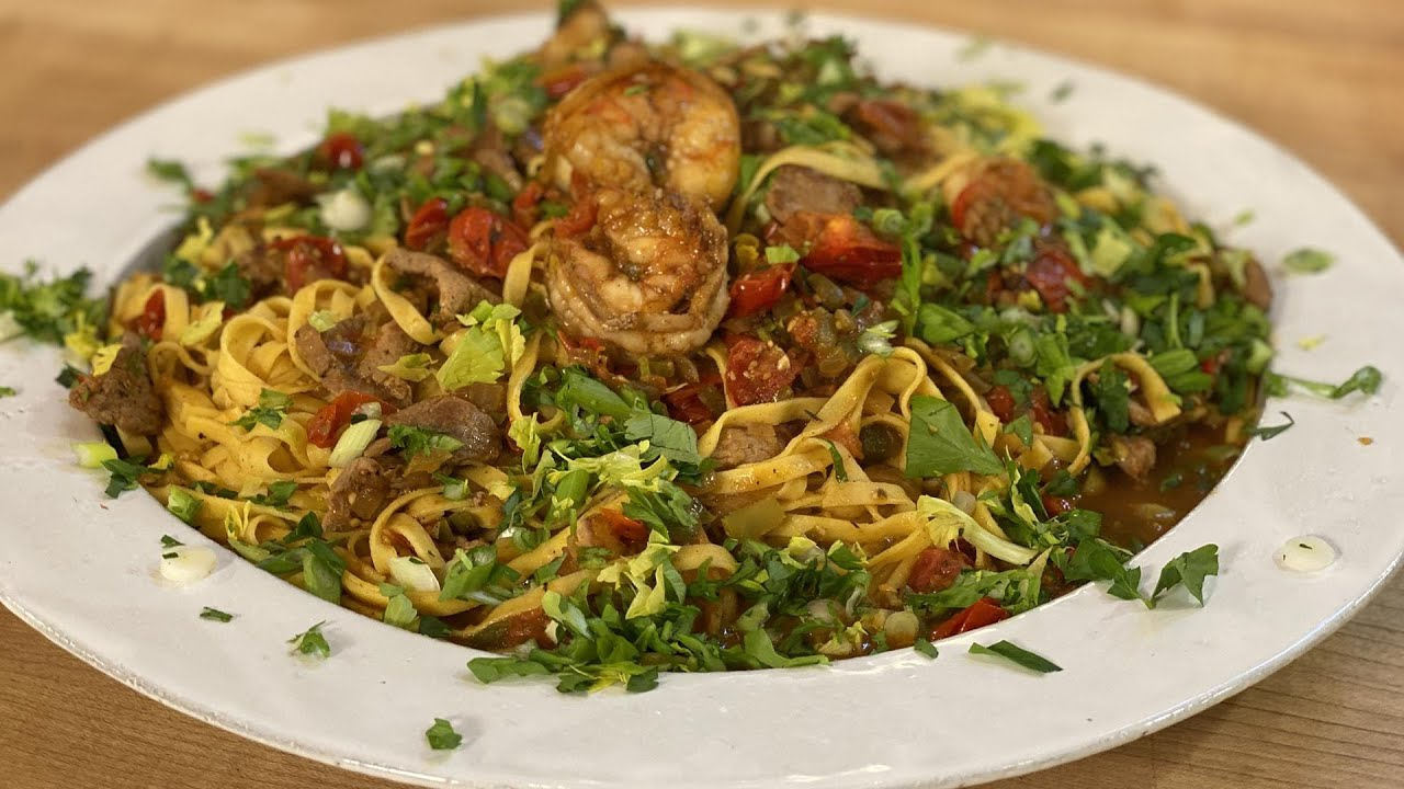 How To Make Jambalaya-Style Pasta with Spicy Pork (or Chicken) and Shrimp | Rachael Ray