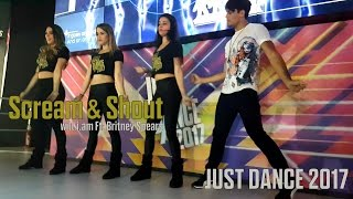 scream shout by will i am ft britney spears just dance 2017 palco bgs diegho san