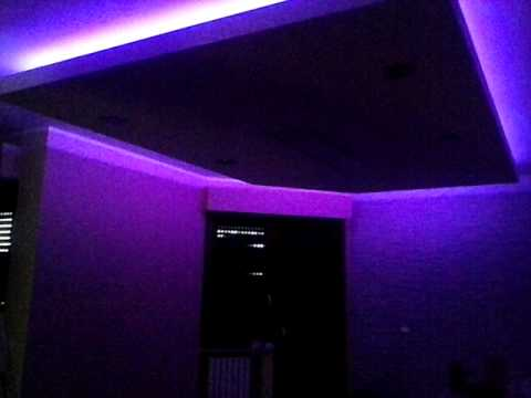 Controsoffitto led rgb youtube for Led controsoffitto