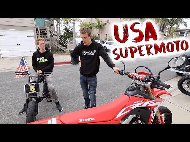 Wir fahren in Los Angeles Motorrad!
