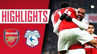 Lacazette's perfect knee slide 🔥| Arsenal 2-1 Cardiff City | Goals and highlights