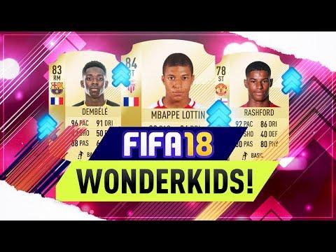 FIFA 18 | TOP 10 WONDERKIDS OFFICIAL RATINGS ft Dembele, Mbappe, Rashford