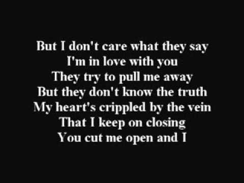bleeding love - sabrina with lyrics