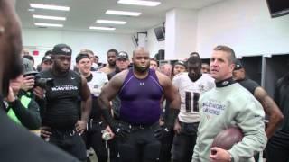 Ravens Celebrate Win Over Browns In Locker Room