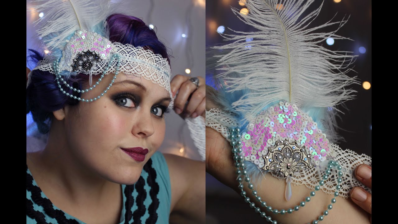 Find and save ideas about Flapper headband on Pinterest. | See more ideas about s flapper girl, Great gatsby headpiece and s fashion party. How To Make A s Headband.