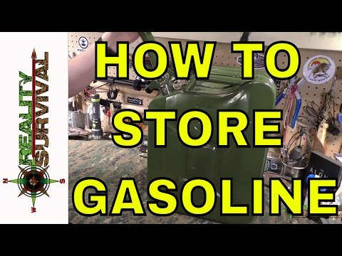 How To Store Gasoline For Prepping