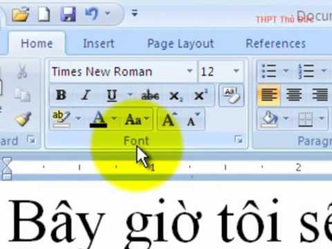 Chọn Font mặc định cho Word 2007