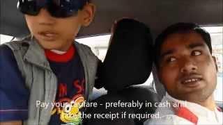 Devanssh travels in Dubai Taxi and Abra
