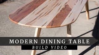Modern Steel & Wood Dining Table