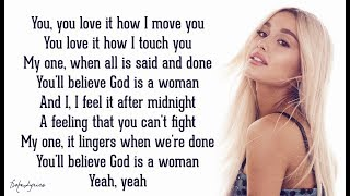 God is a woman - Ariana Grande (Lyrics)