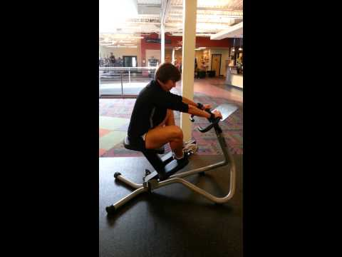 Stretching The Lower Body On The Precor Chair With Trainer Karen Bast
