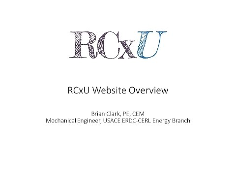 Retro-Commissioning (RCx) University Overview