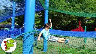 おでかけ 国営昭和記念公園!大きなドーム状のトランポリンで遊ぼう! トイキッズ