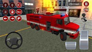 Gerçekçi İtfaiye Arabası Oyunu - Fire Truck Driving Simulator 2020 2 - Best roid Gameplay