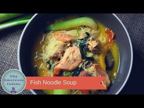 Fish Noodle Soup - Tasty Healthy Fish Soup Recipe -شوربة السمك