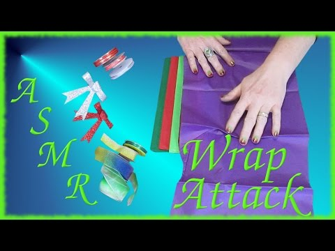 Wrapping Paper/Ribbon Show & Tell ASMR Crinkly sounds