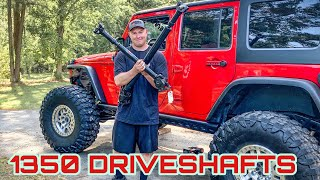 Installing Heavy Duty Driveshafts In My Jeep Wrangler - The 1 Ton Axles Are Drivable!!