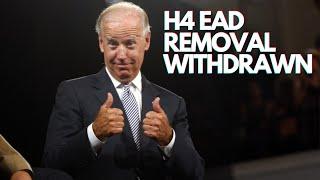 GOOD NEWS From Joe Biden - H4 VISA EAD/Work Permit Removal Revoked!