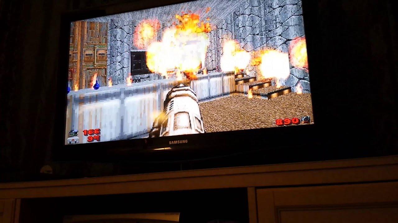 Brutal Doom, Complex Doom on Raspberry Pi 2 (ZDoom) - YouTube