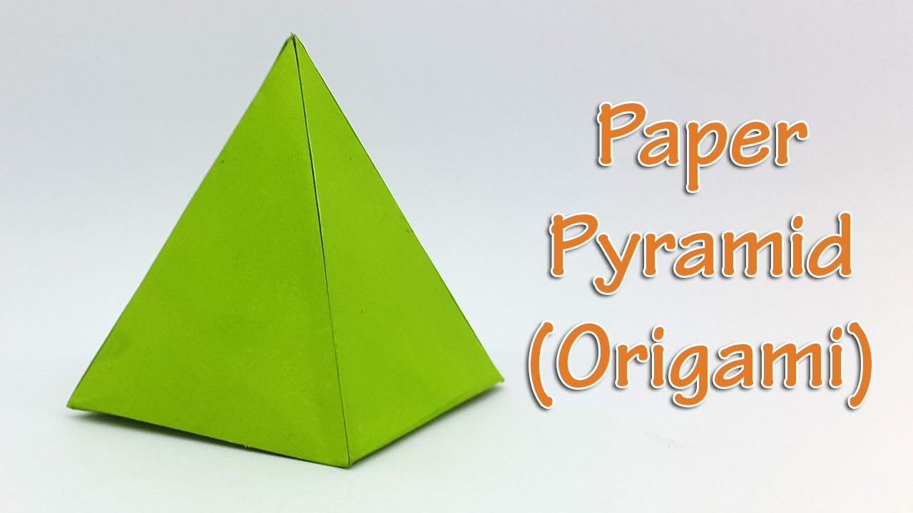 paper pyramid easy tutorial how to make an origami 3d pyramid youtube. Black Bedroom Furniture Sets. Home Design Ideas