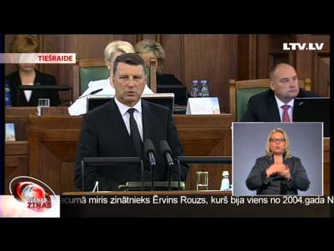 Raimonds Vējonis kļūst par Latvijas Republikas prezidentu
