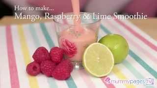 Mango, Raspberry And Lime Smoothie