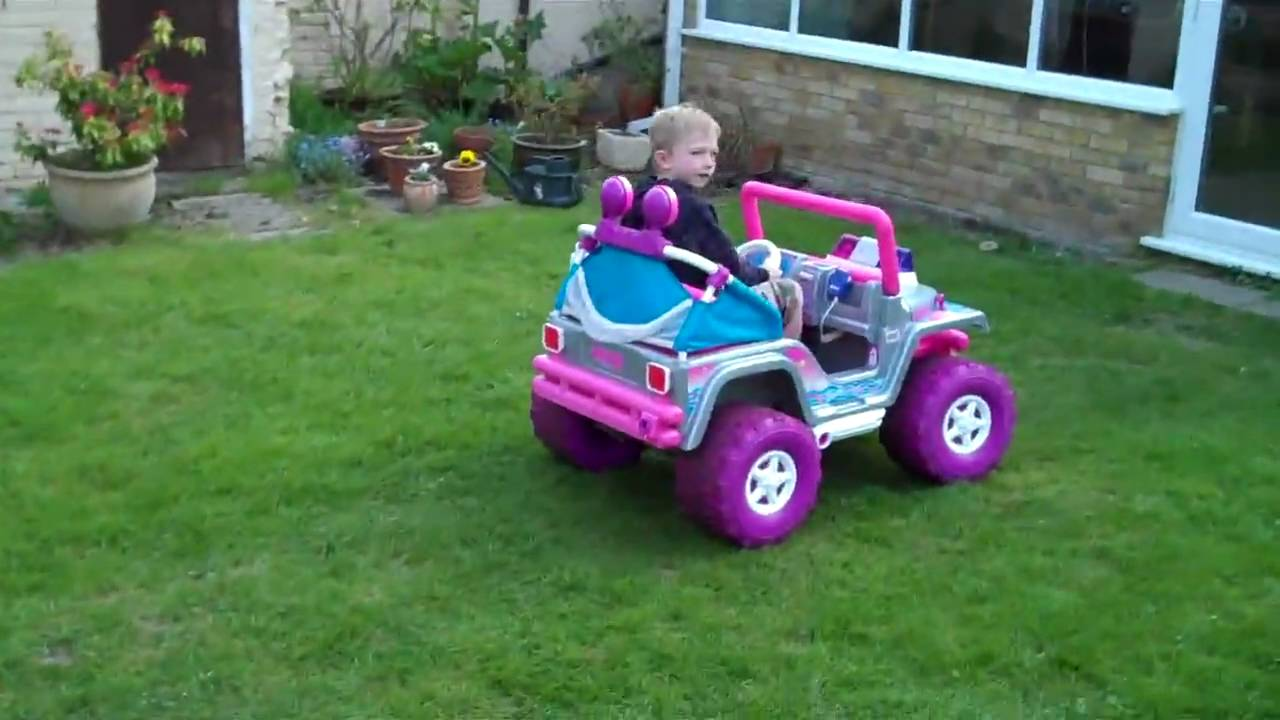 Barbie Electric Car: Fisher Price Barbie Jeep 12V Ride-on Electric Car For Sale