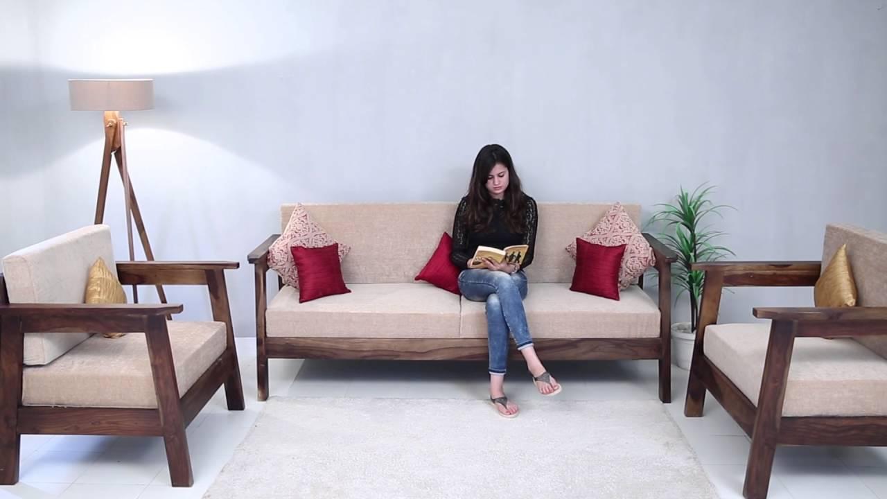 Conan Wooden Sofa Set Online In India