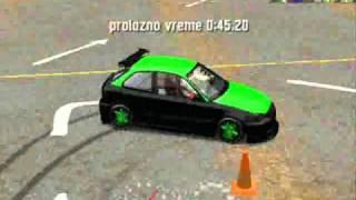 LFS Honda Civic EK 9 [XFG] Gymkhana Test