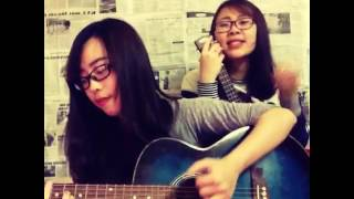 all about that bass acoustic guitar cover by Hà Dung ft. Ngọc Mon