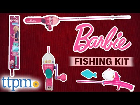 Barbie I Can Be... Fishing Kit With Spincast Rod And Reel From Shakespeare