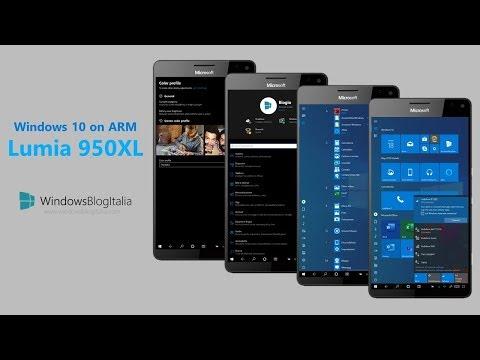 Windows 10 on ARM Build 18895 sul Lumia 950 XL