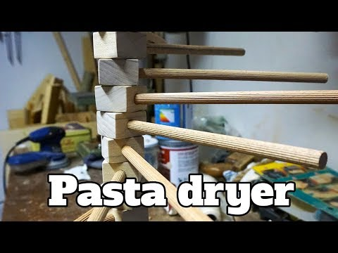 How to make a wood pasta dryer